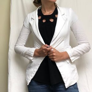 Vintage Structured White Blazer